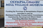 Olympia-Granby Mill Village Museum sign