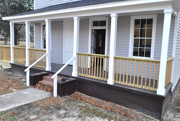 Front porch of Olympia-Granby Mill Village Museum