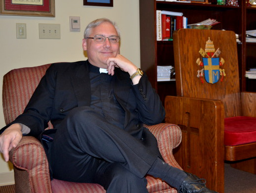 The Rev. Gary Linsky in his office.