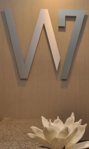 700 Woodrow logo in lobby