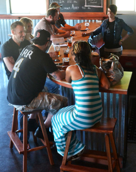 customers at River Rat Brewery
