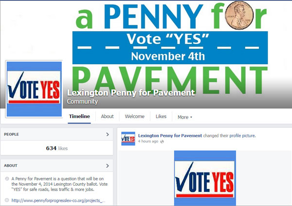 Penny for Pavement Facebook page