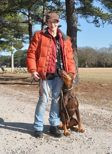 Jennifer Hunt and her dog, Luke, are among many owners and their dogs that frequent the park. Hunt says she and some other dog owners enjoy that their pets can run free at Owens Field Park and not be confined, but others support building a fenced dog park.