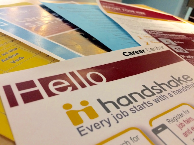 Students can receive many resources and handouts from the USC Career Center