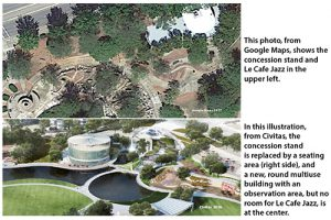 Comparison current Finlay Park and renovation plan