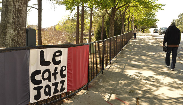 Le Cafe Jazz sign