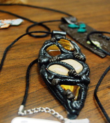 Pam Borawski's dragon eye pendant.