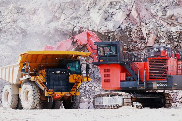 Quarry machinery in action